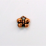 Metalized Plastic Pendant- Butterfly 10MM ANT COPPER