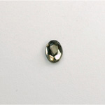 Glass Flat Back Rose Cut Faceted Foiled Stone - Oval 08x6MM BLACK DIAMOND