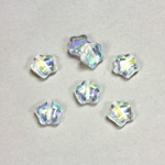 Czech Pressed Glass Bead - Star 08MM CRYSTAL AB