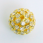 Rhinestone Ball 20MM CRYSTAL-GOLD