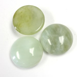 Gemstone Cabochon - Round 18MM JADE LT GREEN
