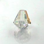 Chinese Cut Crystal Bead - Cone 06x5MM CRYSTAL AB