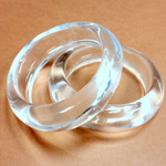 Acrylic Bangle - Tapered 25MM CLEAR