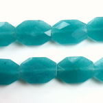 Gemstone Bead - Faceted Octagon 18x13MM Dyed QUARTZ Col. 21 TEAL