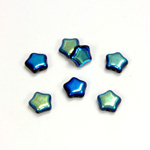 Czech Pressed Glass Bead - Star 08MM JET AB