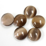 Fiber-Optic Cabochon - Round 12MM CAT'S EYE BROWN