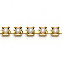 Czech Pearl Cup Chain PP24 WHITE PEARL-BRASS