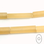 Gemstone Bead - Oval Cylinder 30x8MM Dyed QUARTZ Col. 05 BEIGE