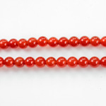 Gemstone Bead - Smooth Round 1.5MM Diameter Hole 06MM CORNELIAN