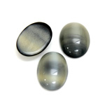 Glass Medium Dome Cabochon - Oval 18x13MM PEARL GREY SPINEL