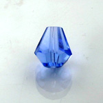 Chinese Cut Crystal Bead - Cone 06x5MM LT SAPPHIRE