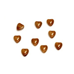 Glass Medium Dome Cabochon - Heart 05x4.5MM BROWHORN