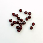 Czech Pressed Glass Large Hole Bead - Round 04MM GARNET