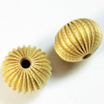 Brass Corrugated Bead - Fancy Dimpled Rondelle 18x14MM RAW