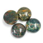 Gemstone Cabochon - Round 15MM FANCY JASPER