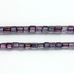 Czech Glass Fire Polished Bead - Atlas 04x4MM LUMI COAT PURPLE