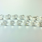 Chinese Cut Crystal Bead - Pear 09x5MM CRYSTAL
