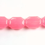 Gemstone Bead - Round Cushion Octagon 19x14MM Dyed QUARTZ Col. 27 ROSE