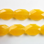 Gemstone Bead - Faceted Octagon 18x13MM Dyed QUARTZ Col. 38 AMBER