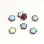 Czech Pressed Glass Bead - Star 08MM MATTE AMETHYST AB