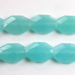 Gemstone Bead - Faceted Octagon 18x13MM Dyed QUARTZ Col. 136 AMAZONITE