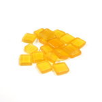 Fiber-Optic Flat Back Buff Top Straight Side Stone - Square 06x6MM CAT'S EYE SUN