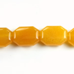 Gemstone Bead - Round Cushion Octagon 19x14MM Dyed QUARTZ Col. 38 AMBER