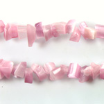 Fiber Optic Synthetic Cat's Eye Bead - Baroque Chip CAT'S EYE LT PINK