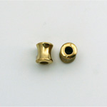 Metalized Plastic Bead - Hourglass Tube 08x6MM GOLD