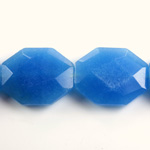 Gemstone Bead - Faceted Octagon 25x20MM Dyed QUARTZ Col. 12 CALCEDON
