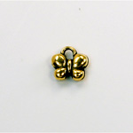 Metalized Plastic Pendant- Butterfly 10MM ANT GOLD