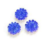 Glass Flat Back Foiled Mirror - Daisy 10MM SAPPHIRE
