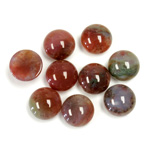 Gemstone Cabochon - Round 09MM FANCY JASPER