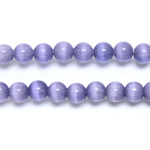 Fiber-Optic Synthetic Bead - Cat's Eye Smooth Round 06MM CAT'S EYE TANZANITE