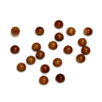 Glass Medium Dome Cabochon - Round 04MM BROWNHORN