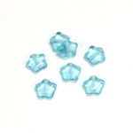 Czech Pressed Glass Bead - Star 08MM AQUA