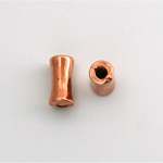 Metalized Plastic Bead - Hourglass Tube 13x7MM COPPER