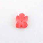 German Plastic Flower with Center Hole - 15x12MM MATTE RUBY