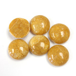 Gemstone Cabochon - Round 12MM YELLOW JASPER