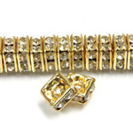 Czech Rhinestone Rondelle - Square 06MM CRYSTAL-RAW