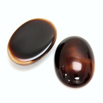 Glass Medium Dome Opaque Cabochon - Oval 25x18MM BROWNHORN