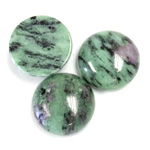 Gemstone Cabochon - Round 18MM ZOISITE RUBY