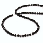 Gemstone Bead - Smooth Round 04MM BLACK ONYX