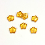 Czech Pressed Glass Bead - Star 08MM TOPAZ