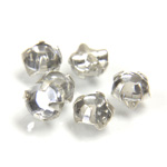 Crystal Stone in Metal Sew-On Setting - Extra Rose Montee 20SS CRYSTAL-SILVER