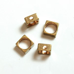 Brass Machine Made Bead - Rings Side Drilled 05MM Square Frame
