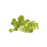 Fiber-Optic Flat Back Buff Top Straight Side Stone - Square 04x4MM CAT'S EYE OLIVENE