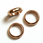 Brass Bead Frames - Rings Side Drilled 2-Holes 10MM