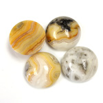 Gemstone Cabochon - Round 15MM MEXICAN CRAZY LACE
