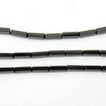 Gemstone Bead - Rectangle Smooth 13x4MM BLACK ONYX